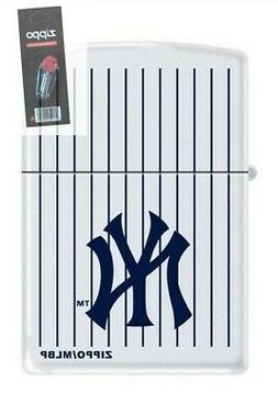 Zippo 0403 new york yankees logo white matte Lighter + FLINT