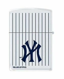 """Zippo 0403,  """"New York Yankees"""" Logo White Matte Lighter, Pi"""