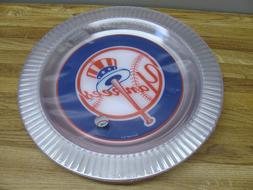 10 Piece New York Yankees Clear Plastic Dinner Plates New Se