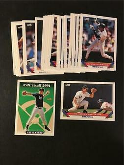 1993 Topps New York Yankees Team Set With Traded 37 Cards De