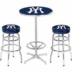 2 New York Yankees Bar Stools & Pub Table