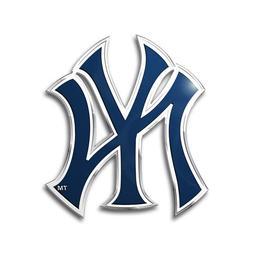 2 Pack New York Yankees Aluminum Metal Auto Emblem  MLB Car