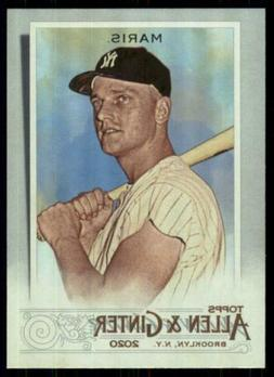 2020 Topps Allen and Ginter Hot Box Silver #107 Roger Maris