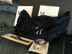 5 New York Yankees SGA Items to include 2 Notebooks, gym Bag
