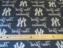 58 Inch Wide Navy Blue New York Yankees Baseball Cotton Fabr