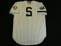 Authentic Derek Jeter Yankees Home 2001 World Series Jersey