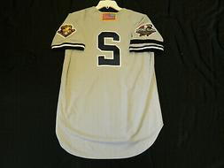 Authentic Derek Jeter Yankees Road 2001 World Series Jersey