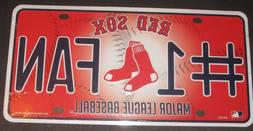 BOSTON RED SOX #1 Fan License Plate Car Accessories Collecti