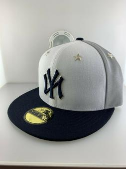 NEW ERA CAP NEW YORK YANKEES STARS WHITE GRAY BLACK FITTED H