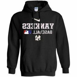 COOL New York Yankees Baseball Hoodie MLB  Men's Black Navy