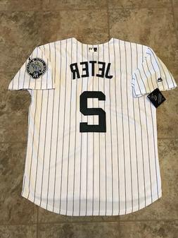 Derek Jeter #2 New York Yankees Pinstripe Cool Base Men's