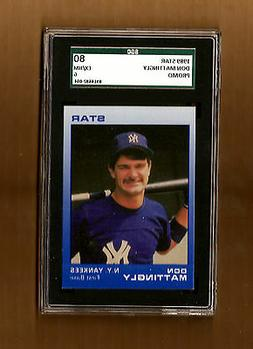 Don Mattingly New York Yankees 1989 Star PROMO Graded SGC 80