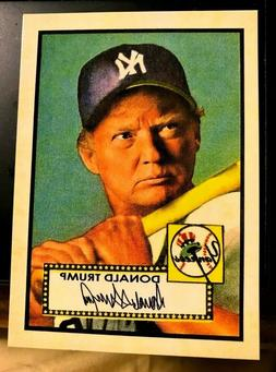 Donald Trump 1952 Style ACEO Baseball Art  Mantle - Gangsta