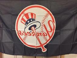 New York Yankees Banner Flag 3x5 ft MLB Top Hat Logo