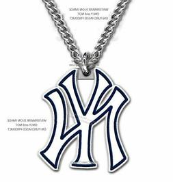 FREE SHIP - NEW YORK YANKEES NECKLACE STAINLESS STEEL CHAIN