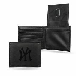 Rico Industries Men's Engraved Billfold Wallet Black -  MLB