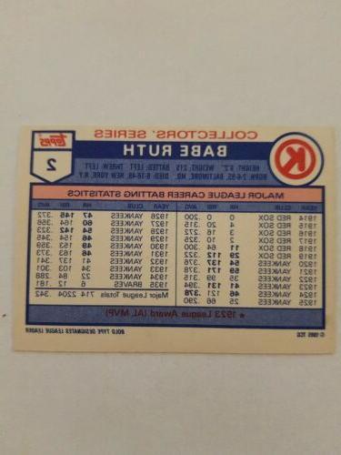 1985 Topps Promo Ruth York #2