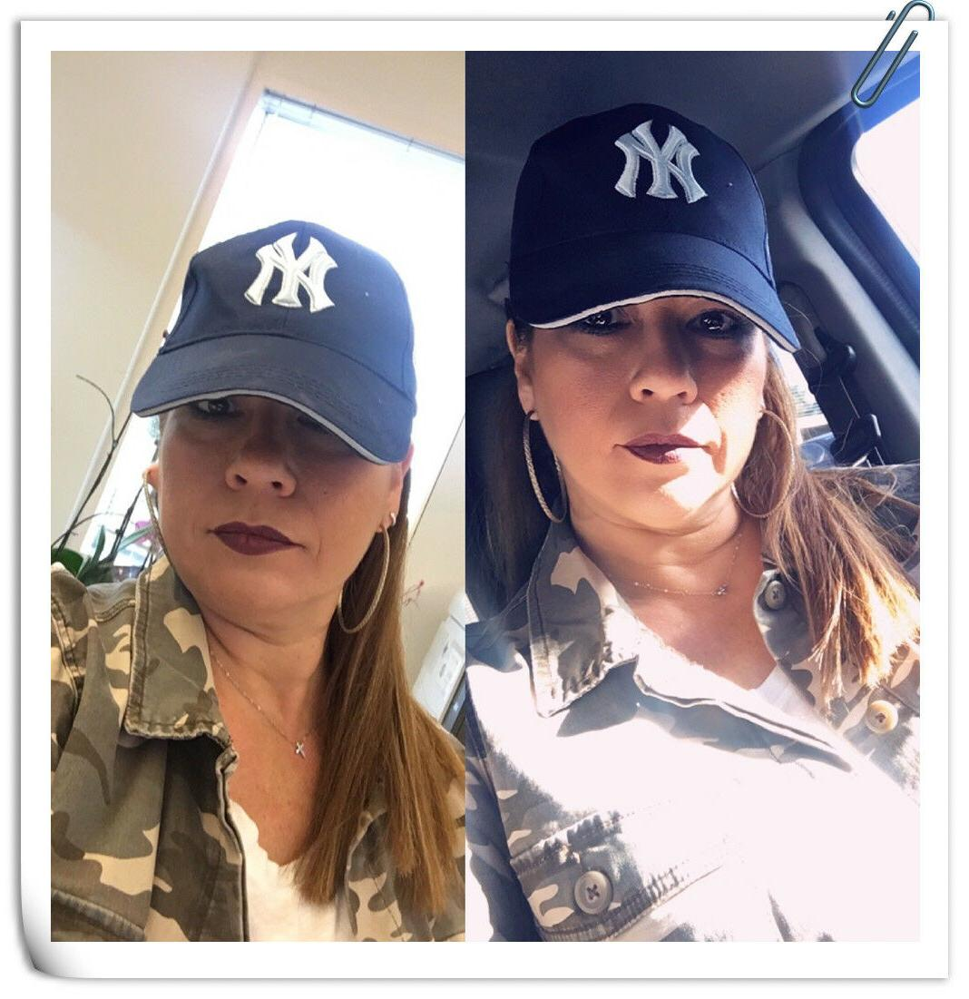 Baseball Cap Yankees NY Logo Hat Women Mens