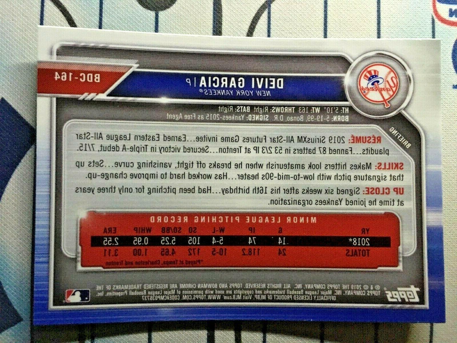 DEIVI GARCIA Draft CHROME Base New York Yankees QTY