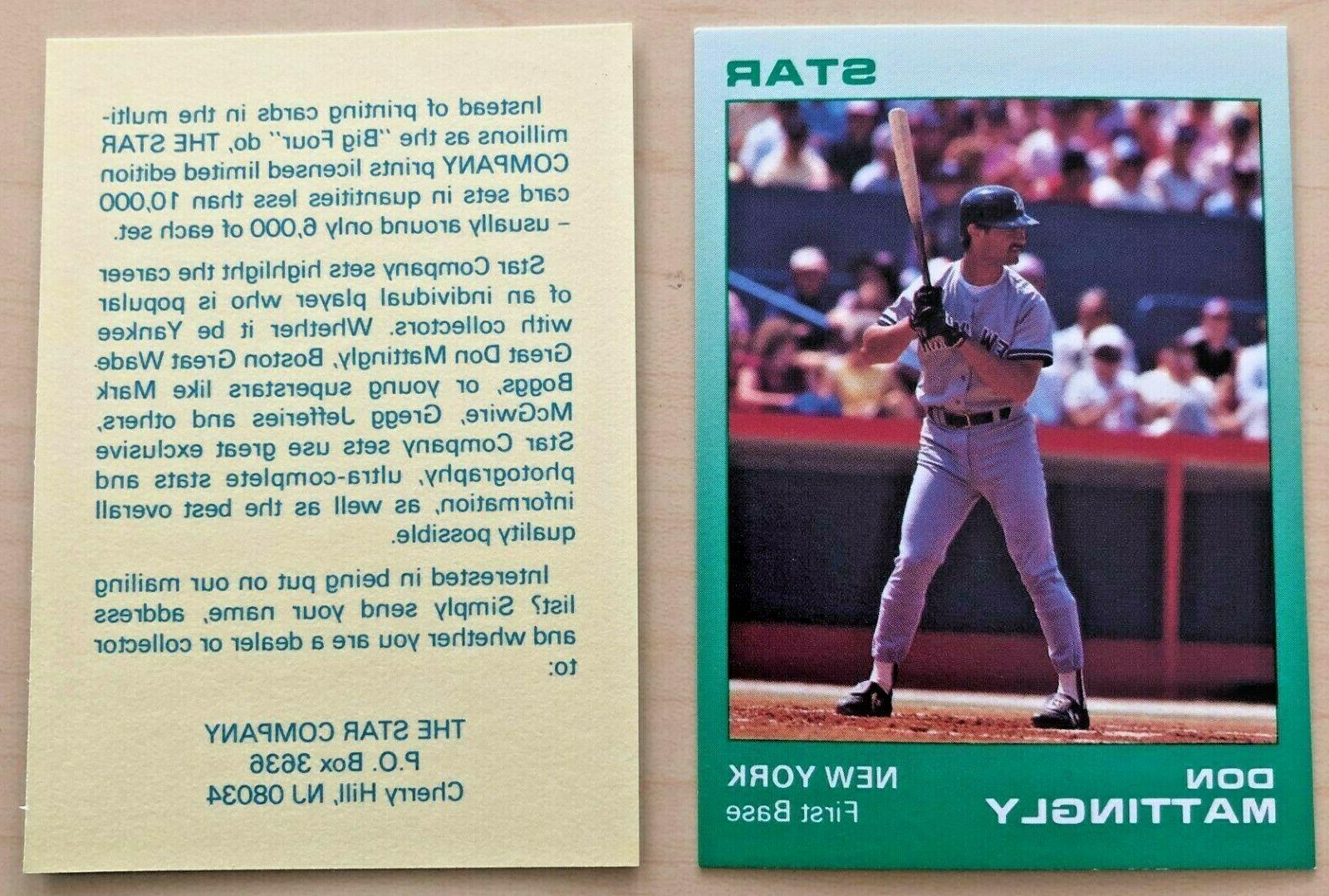don mattingly 1988 star company new york