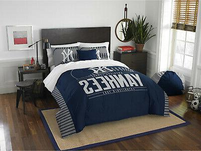 Full/Queen Yankees Bed Comforter MLB Bedding Cover Blue