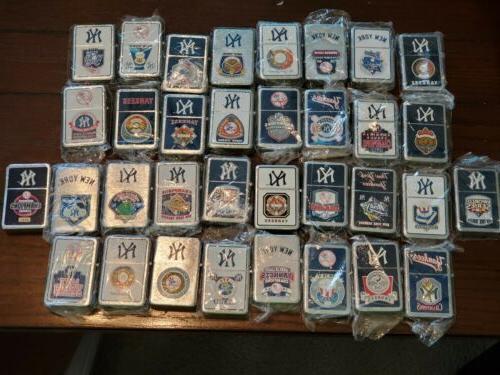 lot of 34 new york yankees lighters