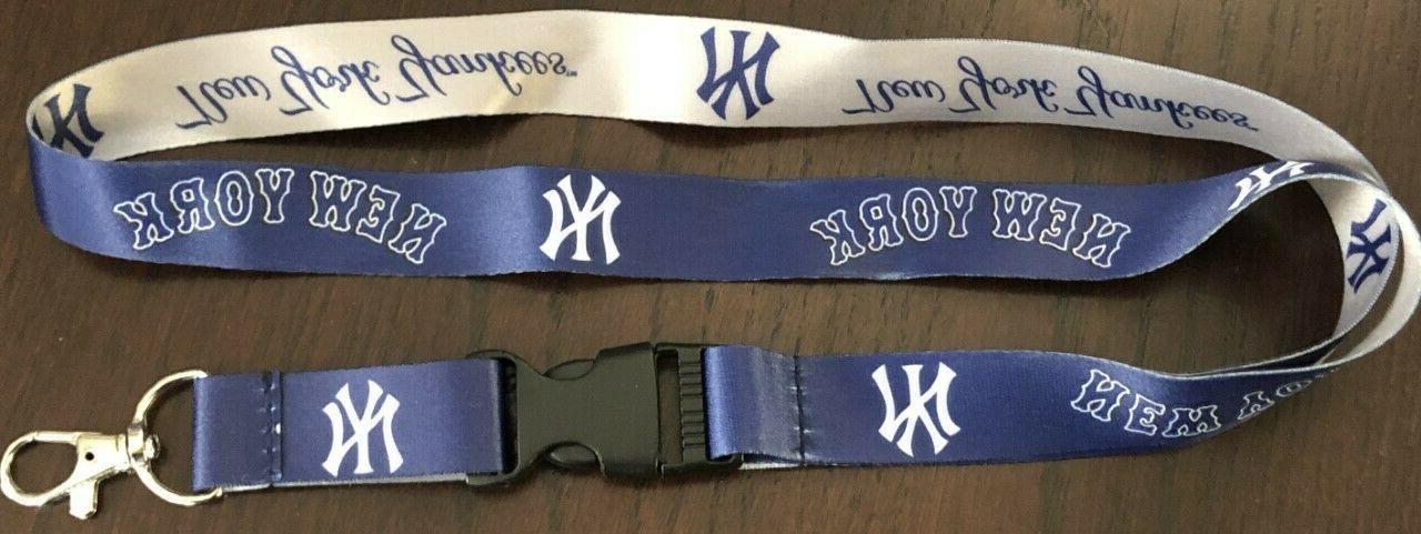 mlb new york yankees baseball breakaway lanyard