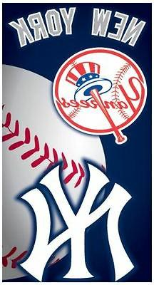 MLB New York Yankees Emblem Beach Towel, 28 x 58-Inch