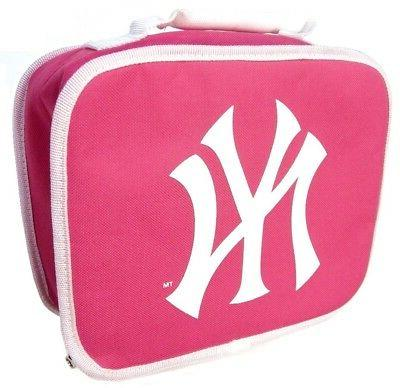 mlb pink girls insulated lunch box bag