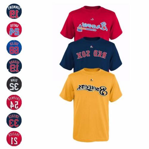 mlb player name and number jersey t