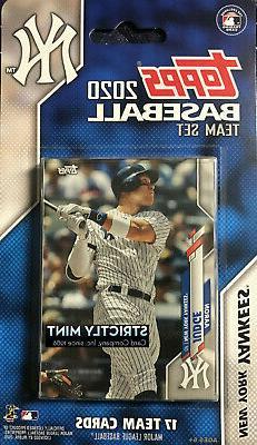 New York Yankees 2020 Topps Factory Sealed 17 Card Team Set