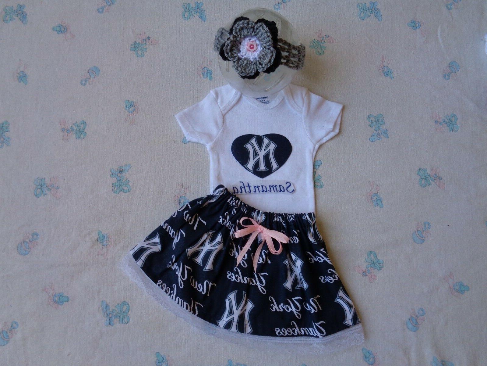 new york yankees baby girl skirt personalized