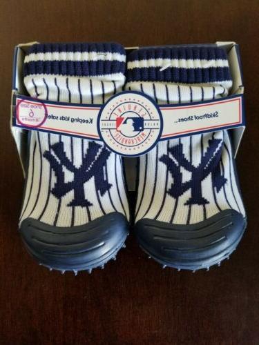 new york yankees baby toddler blue slipper