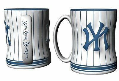 new york yankees coffee mug relief sculpted