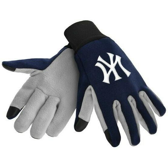 new york yankees color texting gloves