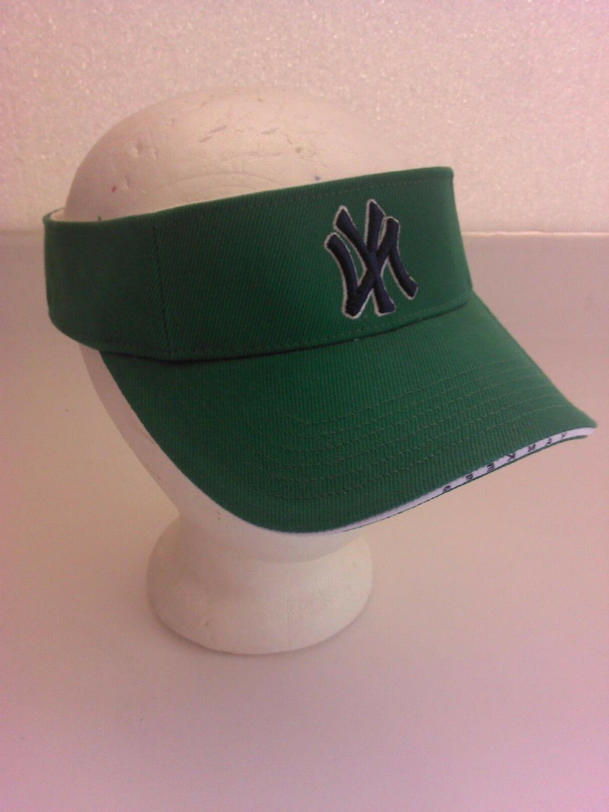 new york yankees green visor cap nwt