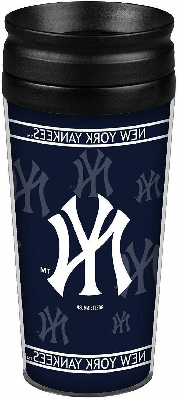 new york yankees insulated travel tumbler mug