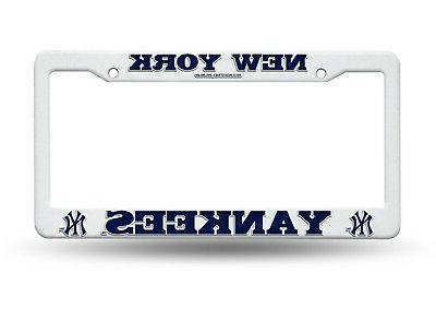 new york yankees license plate cover frame
