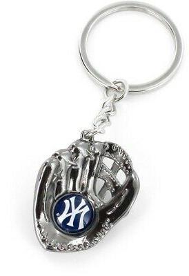 new york yankees metal glove key chain
