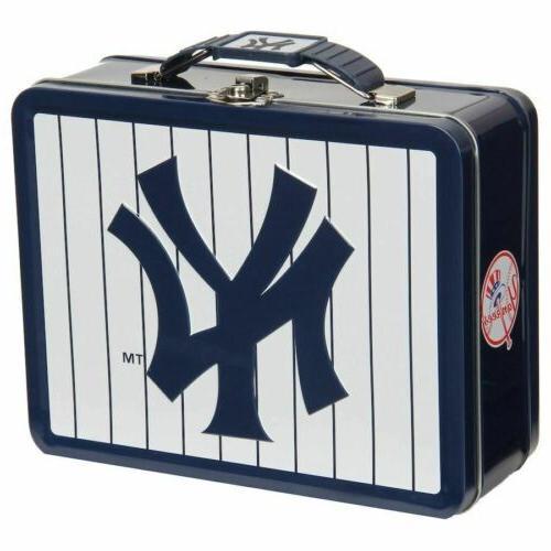 new york yankees metal tin lunch box