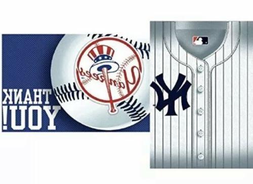 new york yankees mlb baseball 8 pcs