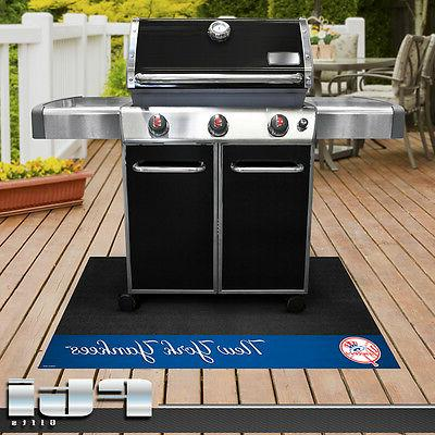 new york yankees mlb baseball vinyl bbq