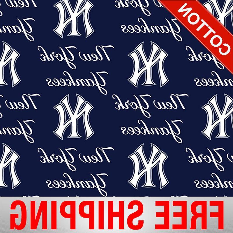 new york yankees mlb cotton fabric style