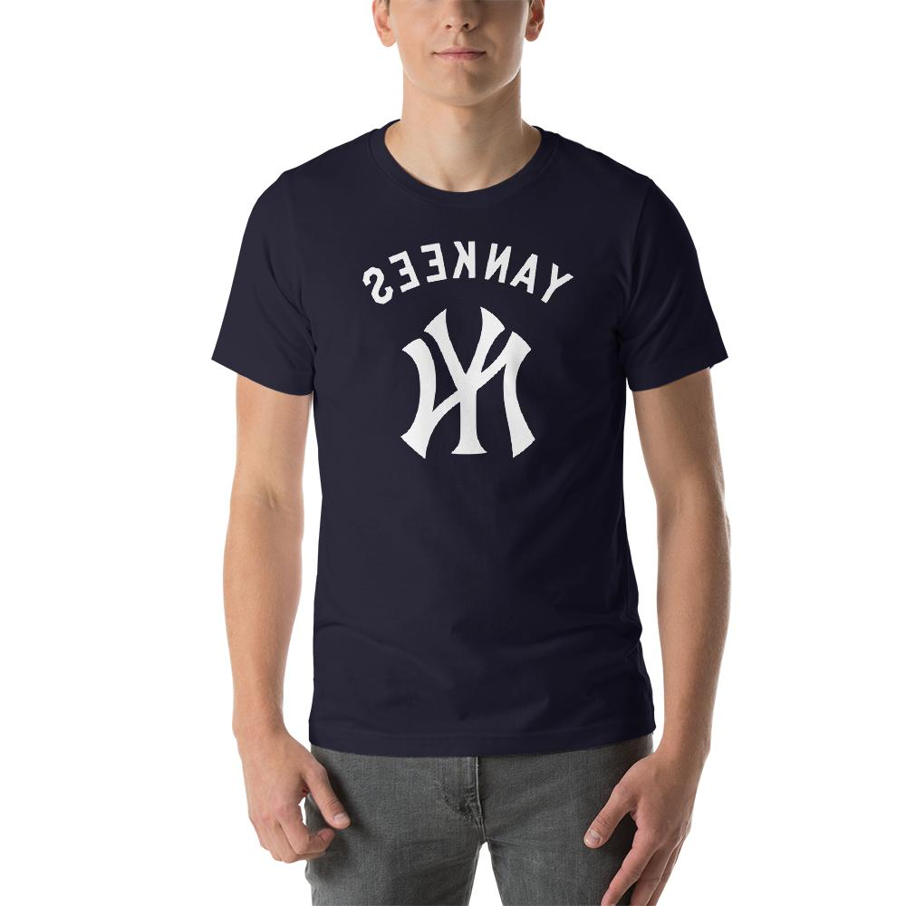 new york yankees navy t shirt graphic