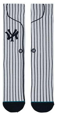 New York Yankees NY Stance MLB Home Pinstripe Jersey Socks L