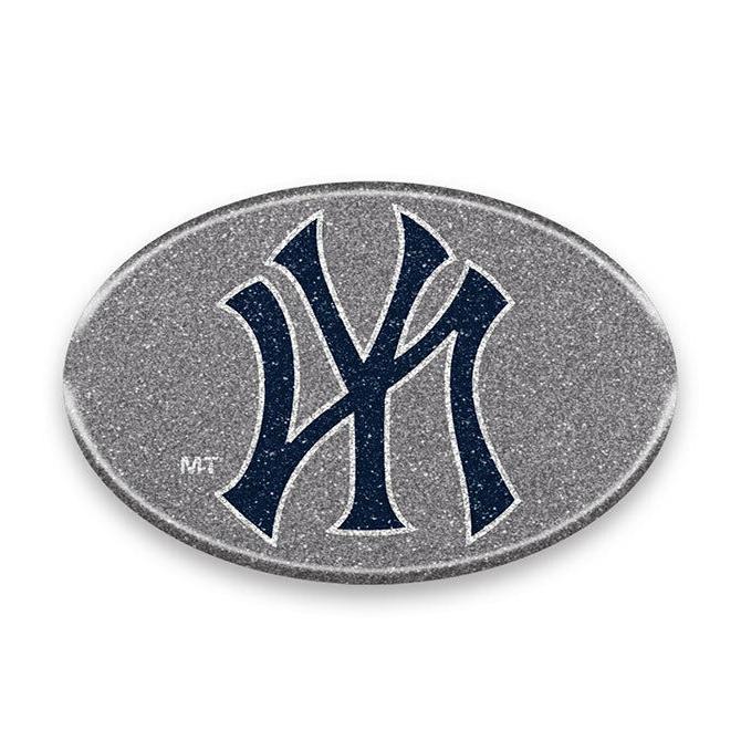new york yankees oval bling auto emblem