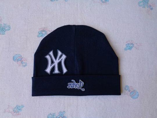 new york yankees personalized baby hat 0