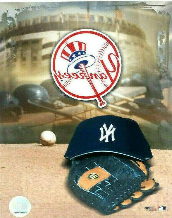 new york yankees photo cap glove logo