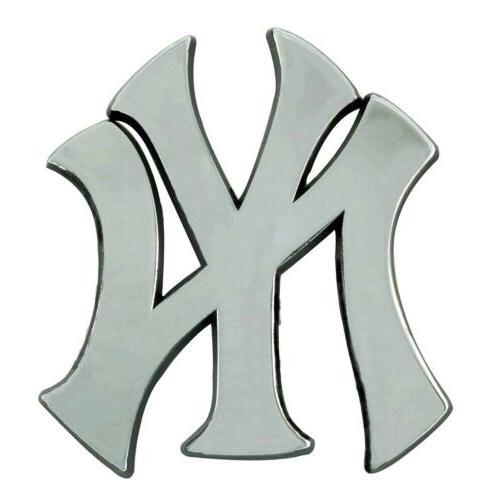 new york yankees premium solid metal chrome