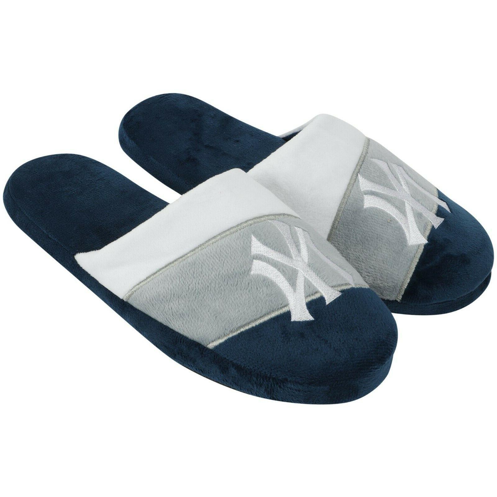 new york yankees team colorblock slide slippers
